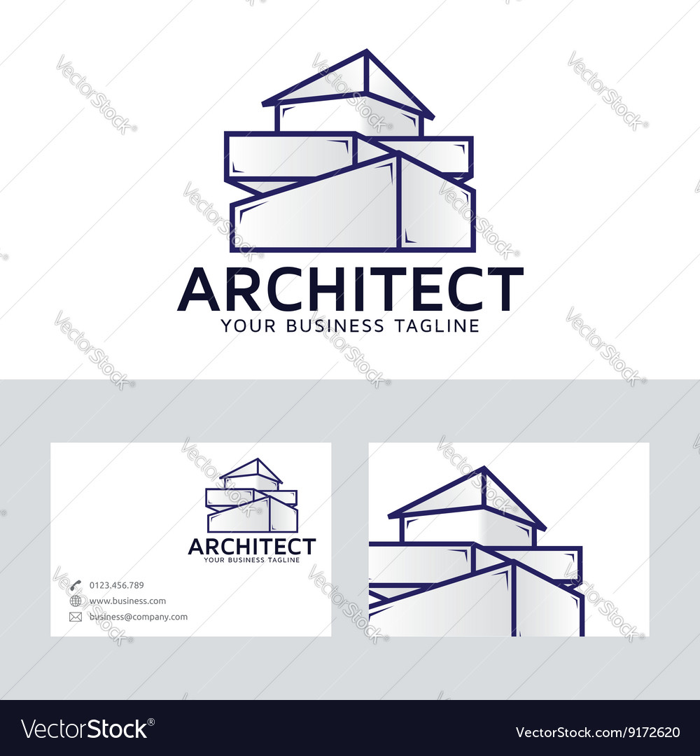 Architect Company logo with business card