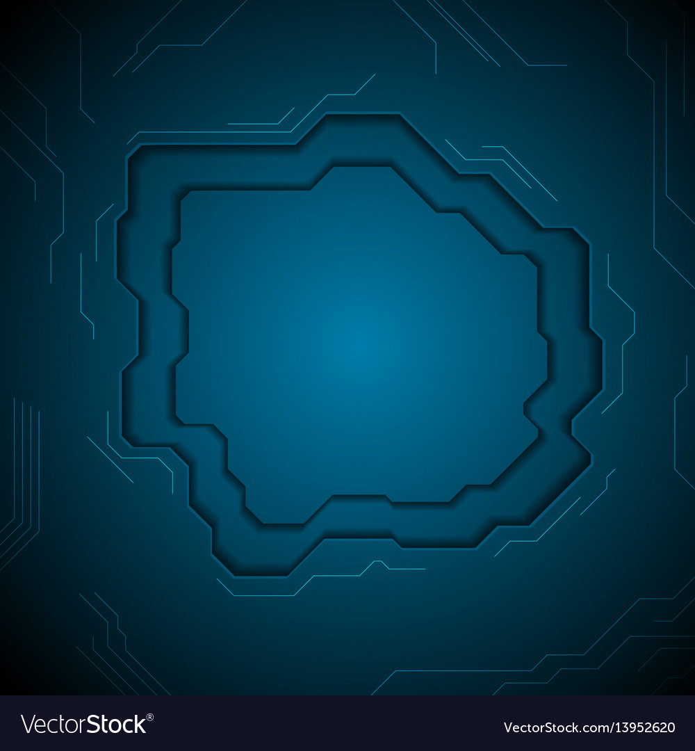 Dark blue technology abstract background with