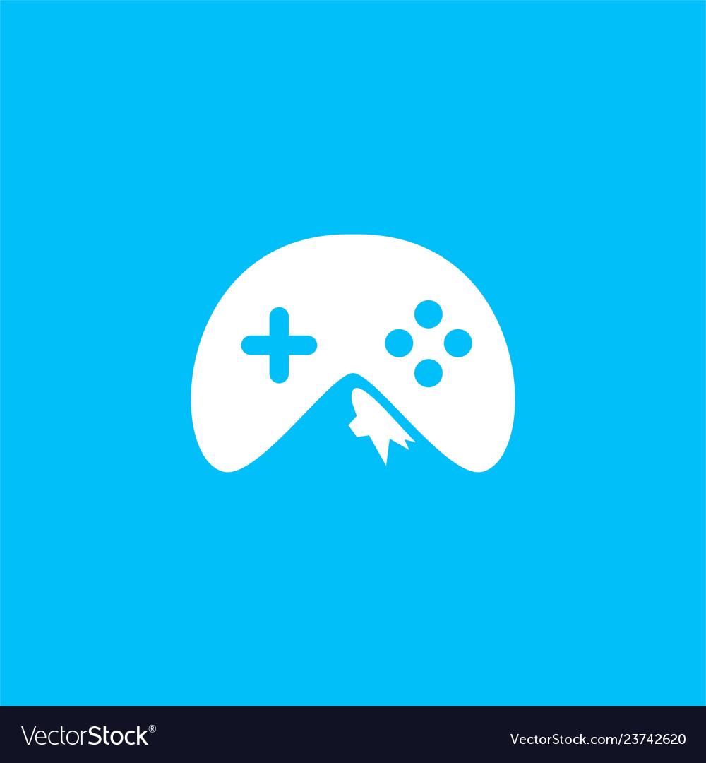 Game mountain icon logo