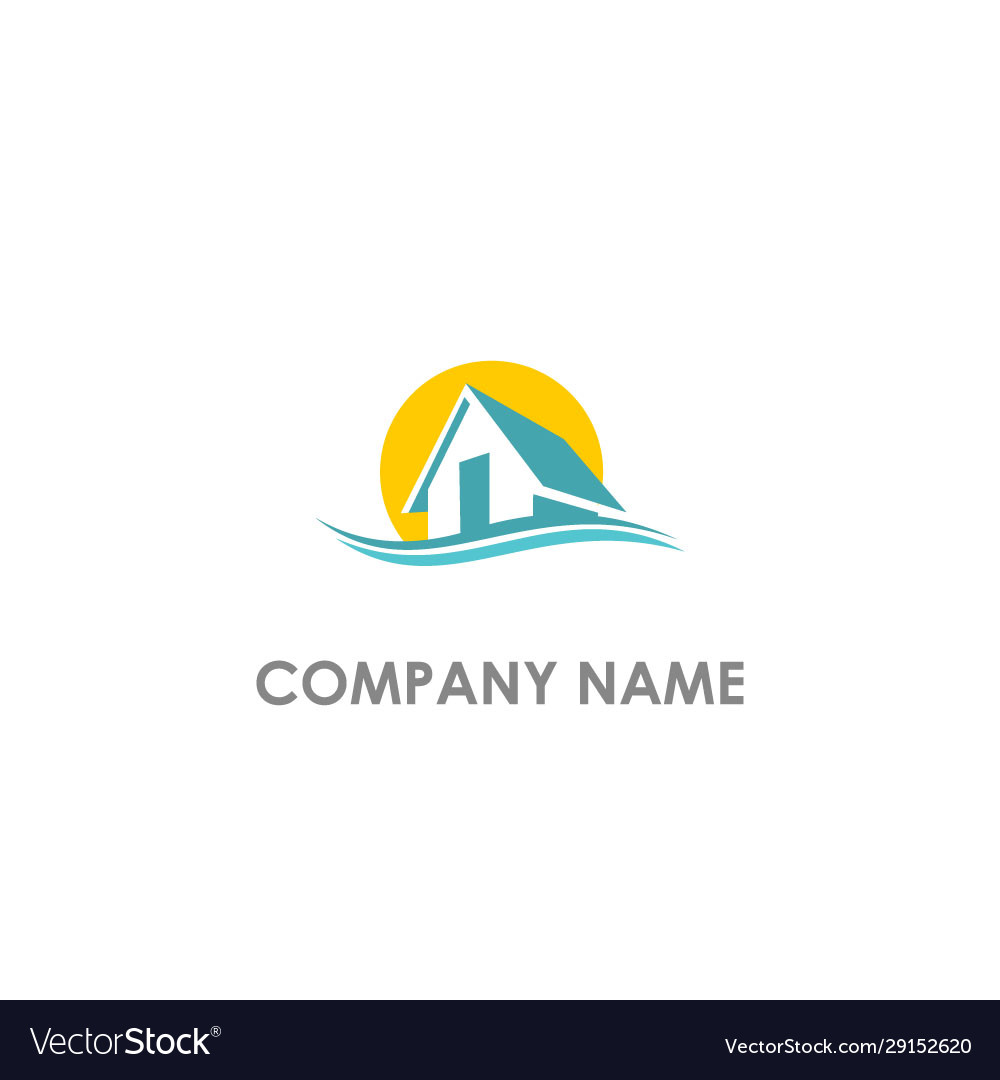 Home realty water wave logo