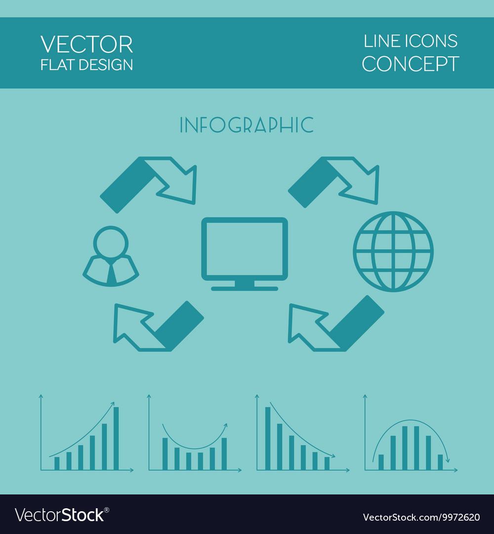 Internet Infographic Flat Design