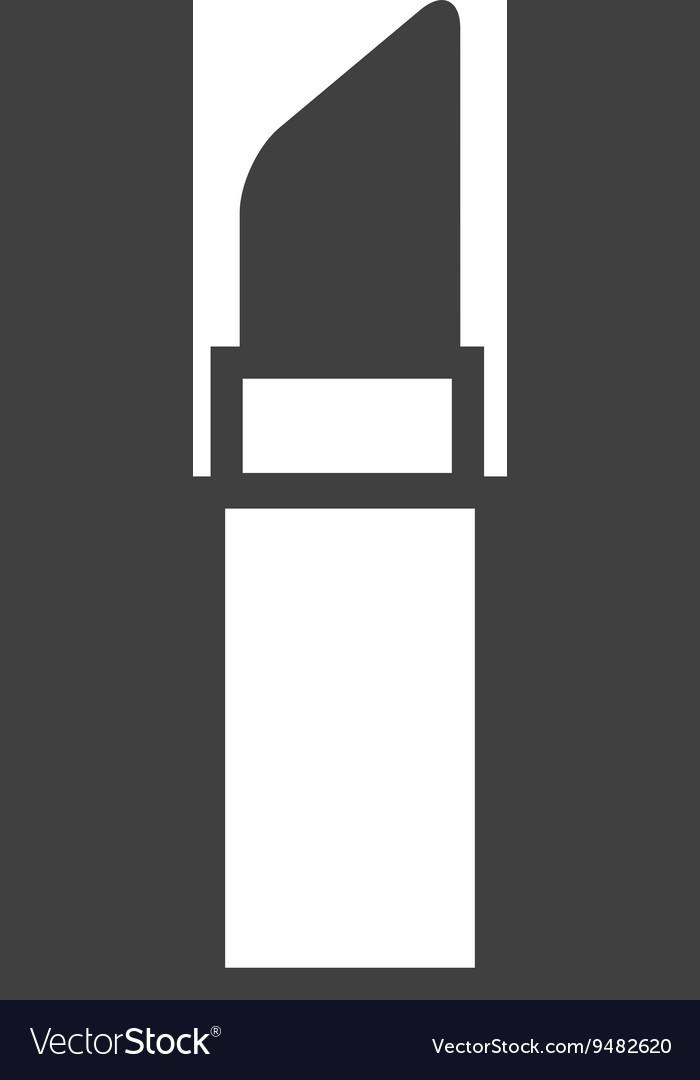 Makeup lipstick isolated icon design