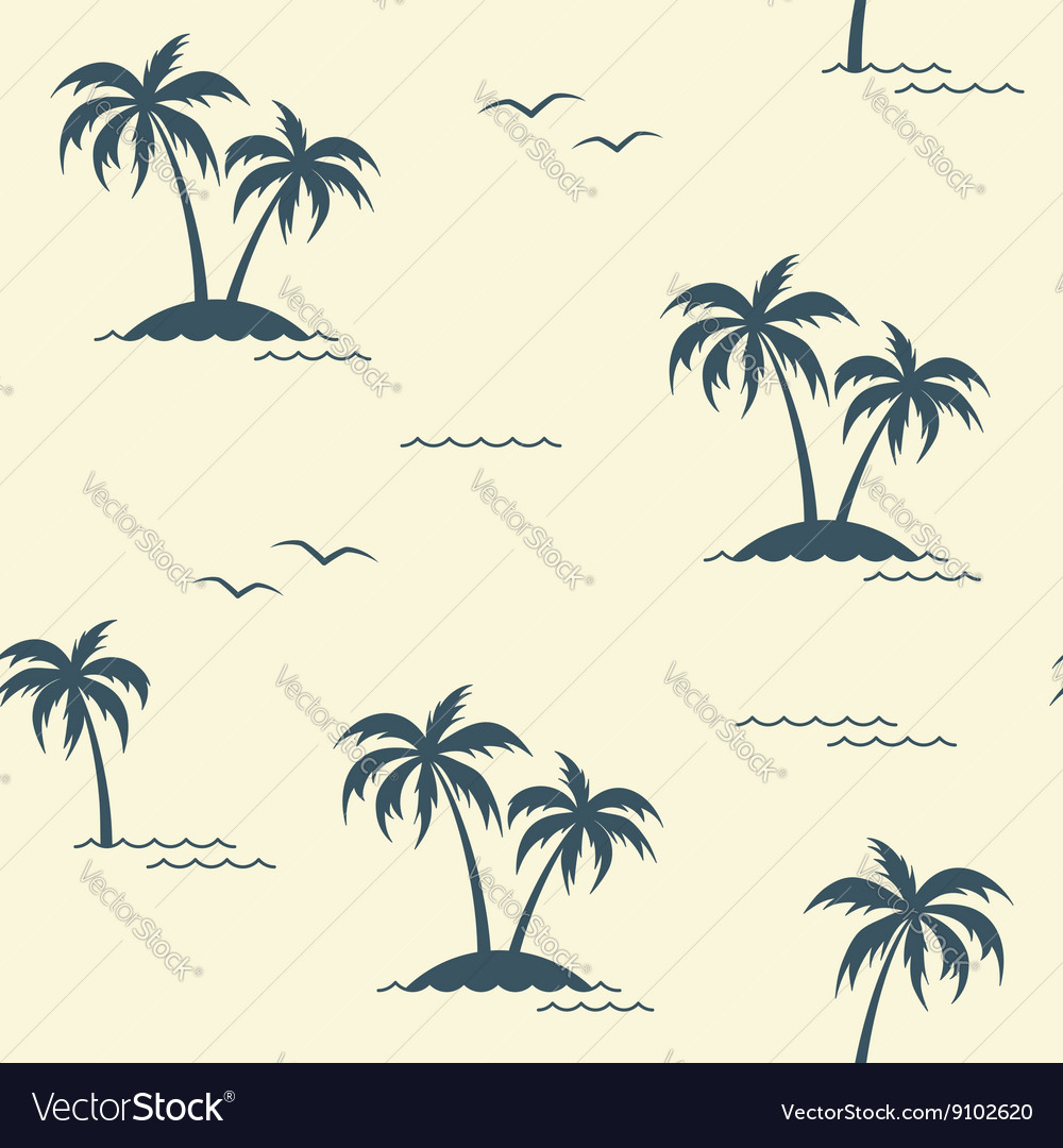 Palms seamless background