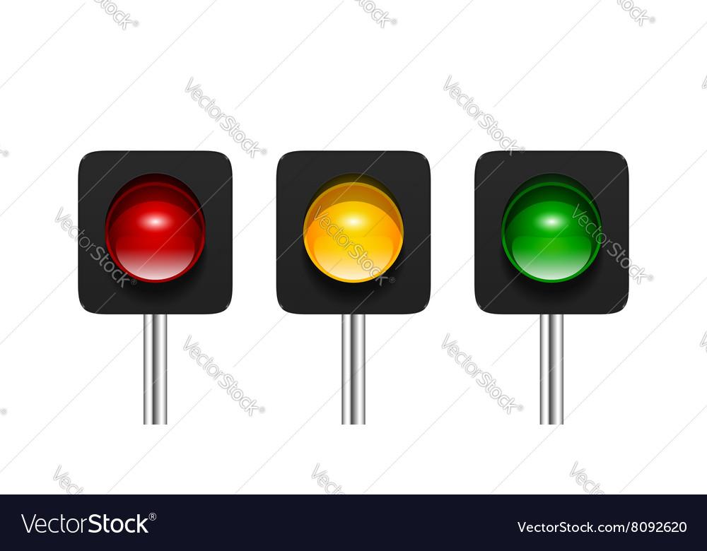 Single aspect traffic lights