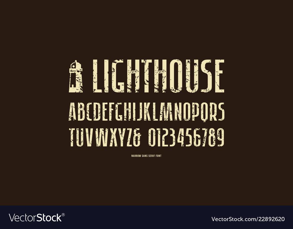 Stock sans serif narrow font
