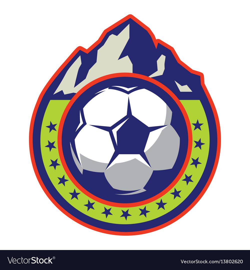 Template logo with mountain on theme