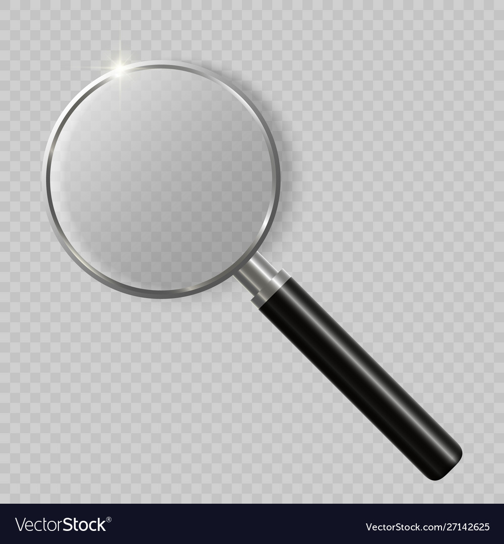 3d realistic magnifying glass