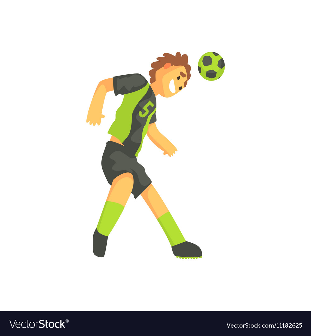 Football Player Smiling And Recieving The Ball On vector image