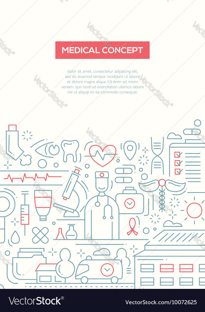 Medical Concept - line design brochure poster