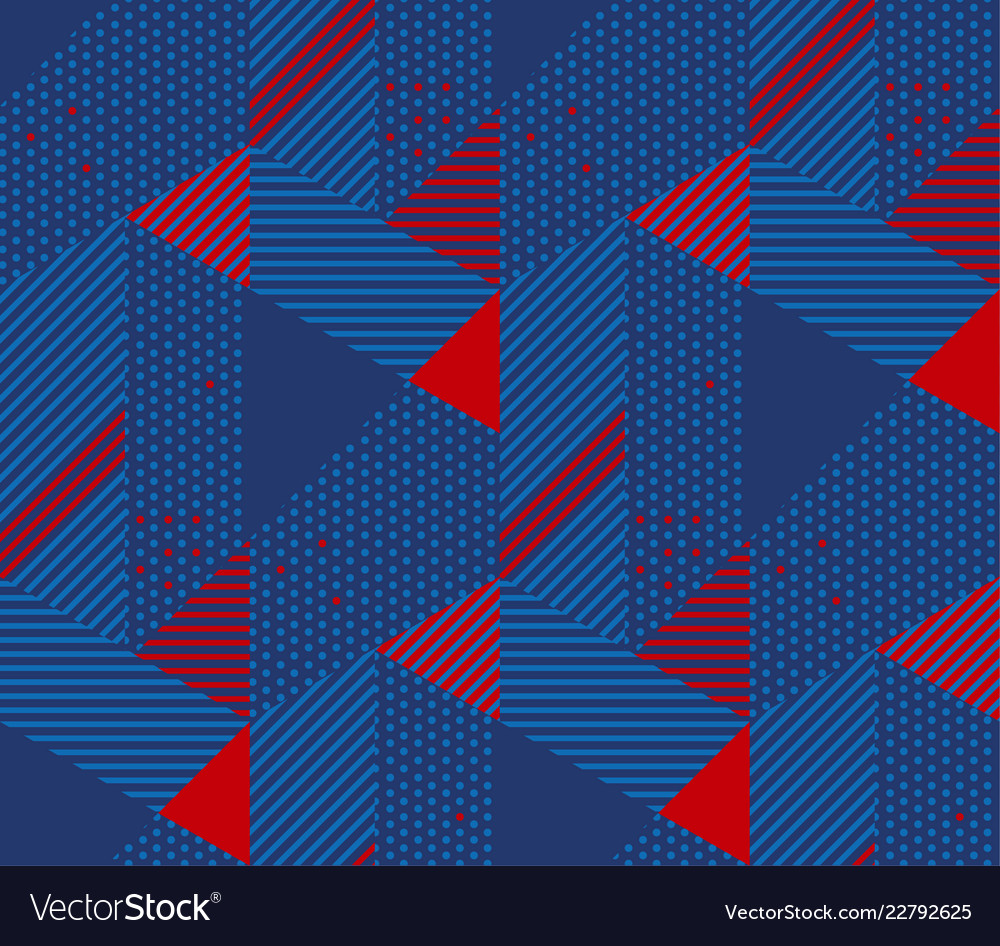 Retro 90s style simple geometric seamless pattern