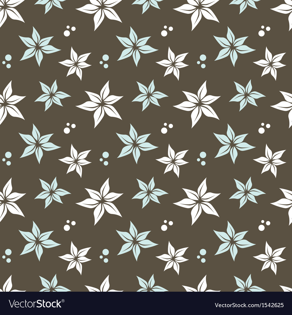 Seamless pattern with flowers and dots vector image