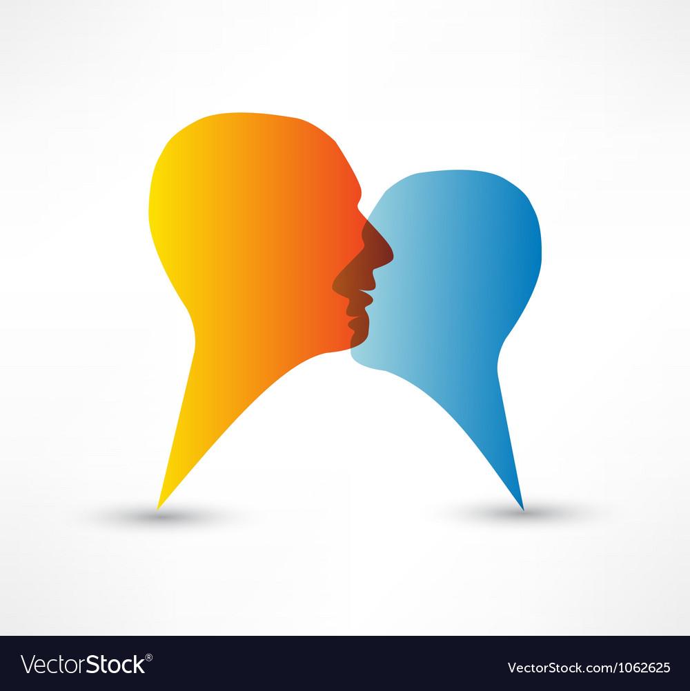 Talk me concept speech bubbles vector image