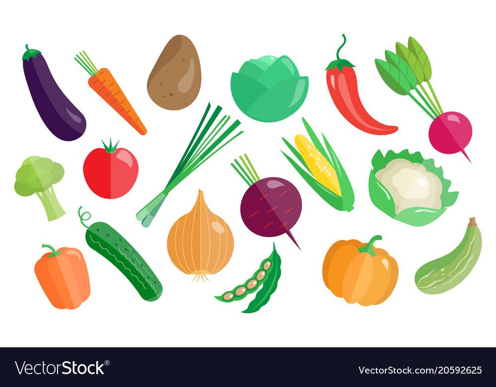 Vegetables big set healthy vegetarian food