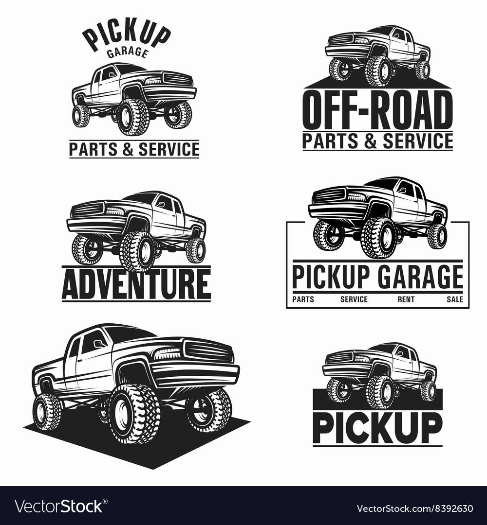 4x4 Off Road >> Car Truck 4x4 Pickup Off Road Logo