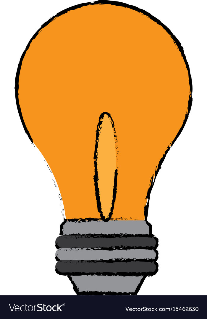 Light bulb business idea innovation icon vector image