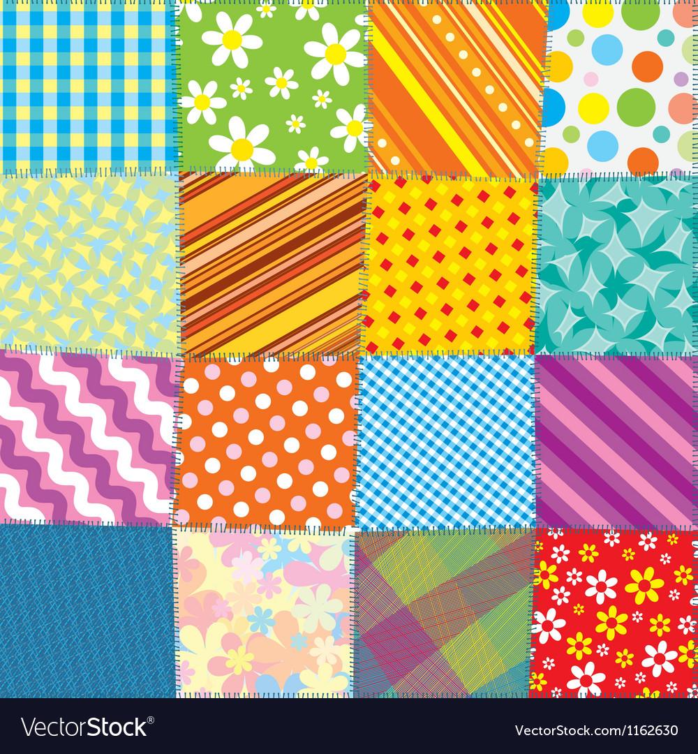 Quilt Patchwork Texture Seamless Pattern