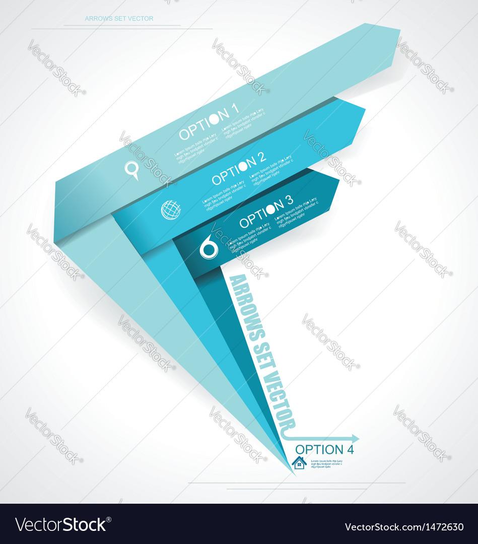 Set arrows Minimal infographics vector image