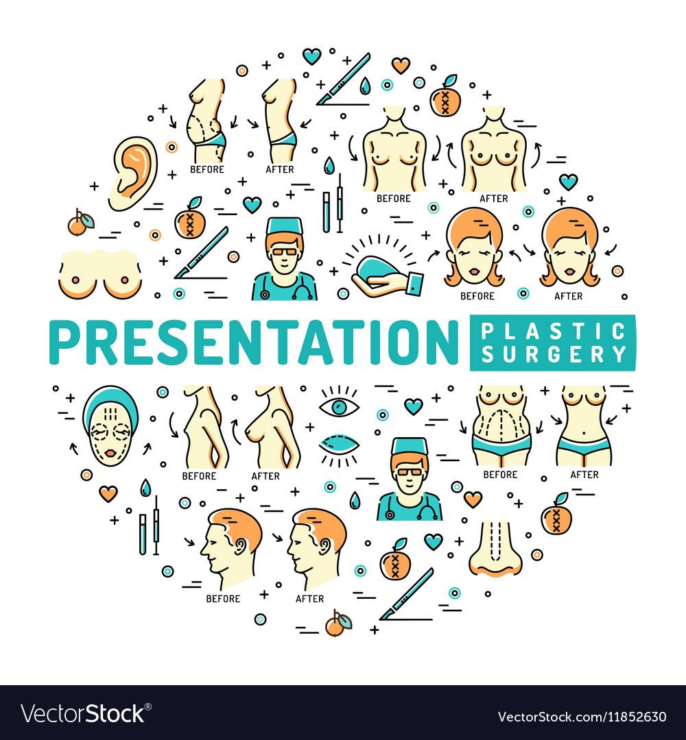 Template medical infographic Presentation Plastic