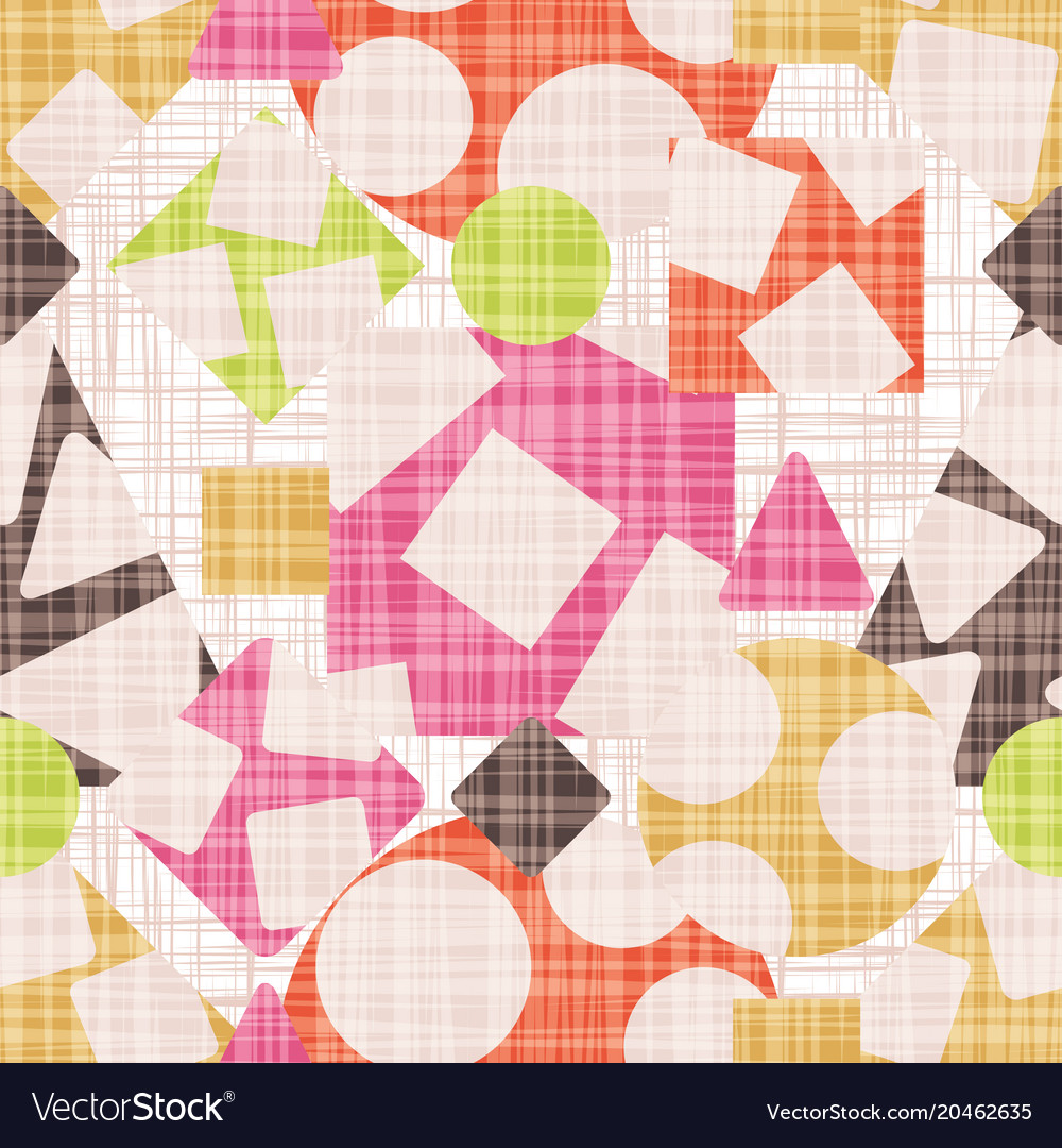Abstract Print Fabric Geometric Shapes Royalty Free Vector
