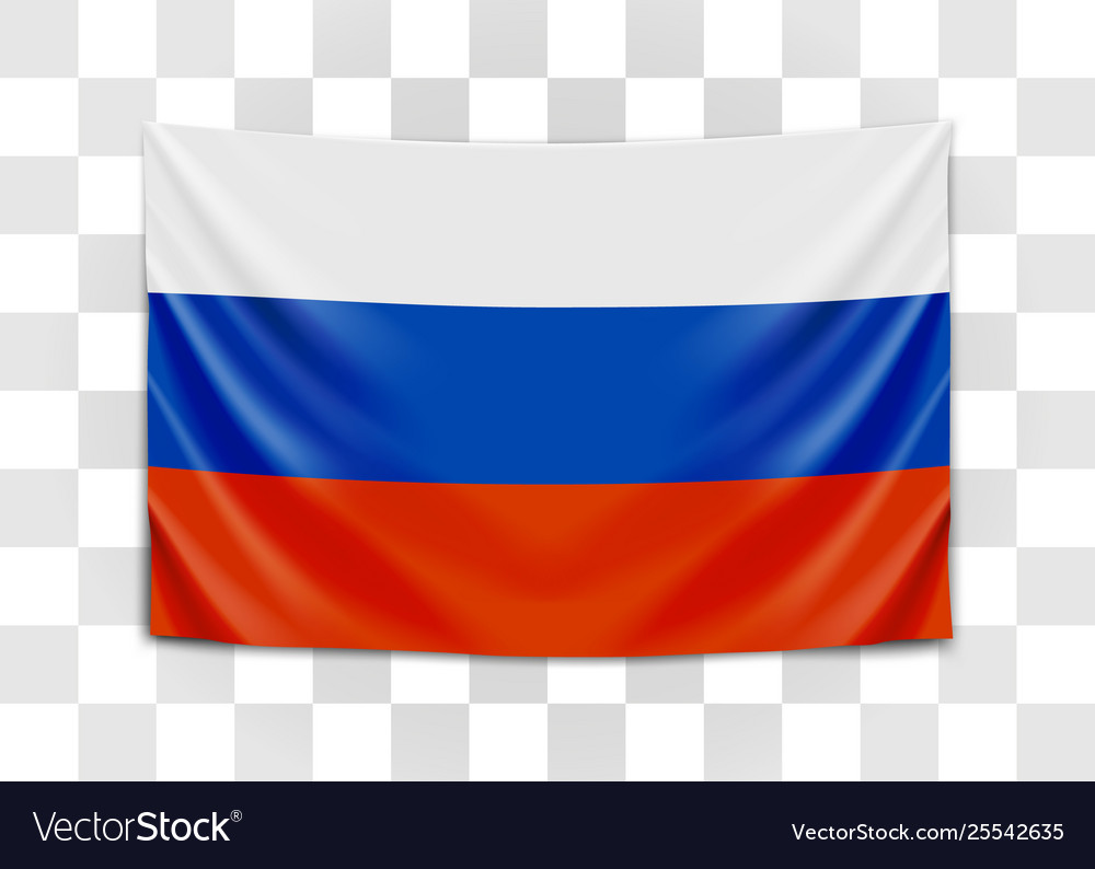 Hanging flag russia russian federation