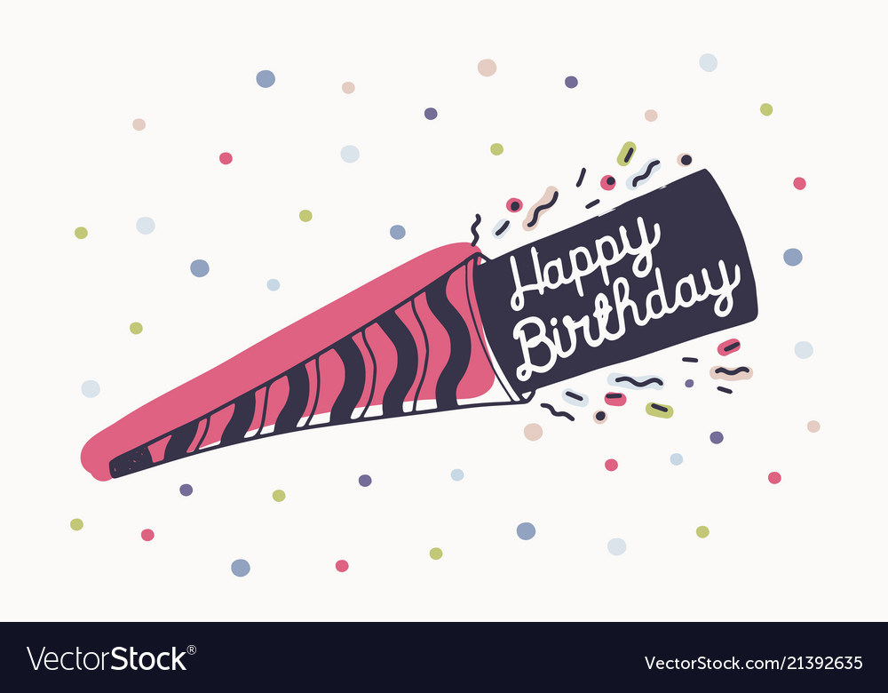 Happy birthday wish or beautiful lettering