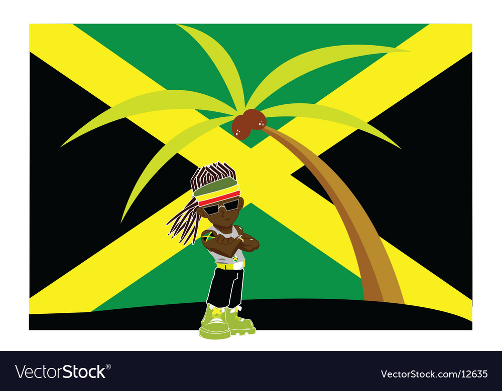 Jamaican gangster vector image