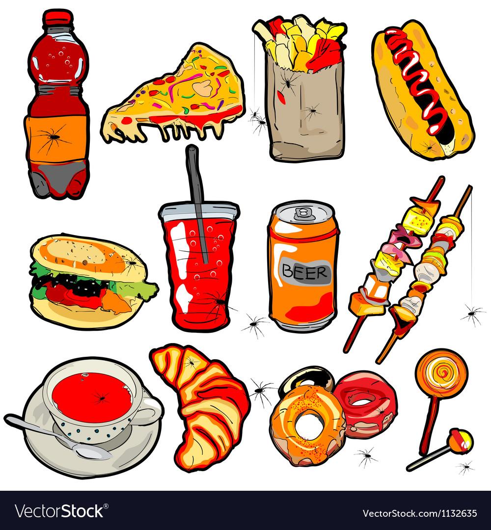 рисунок вредная еда великолепным