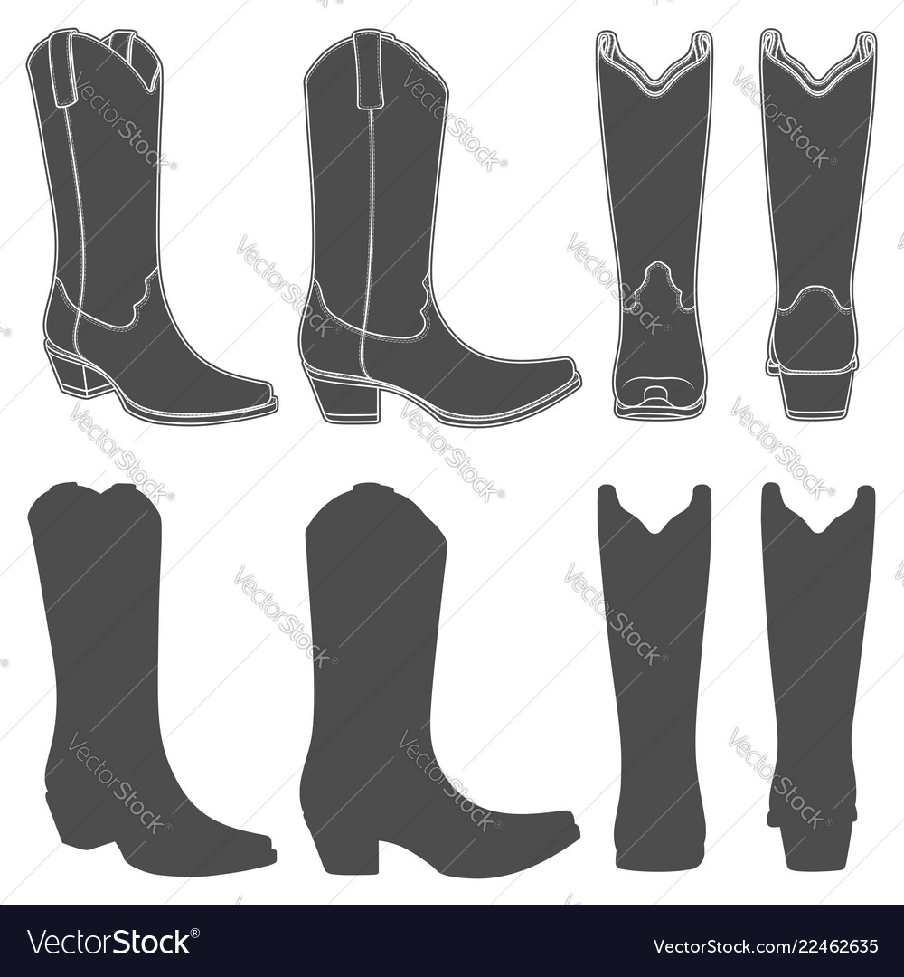 Set with cowboy boots