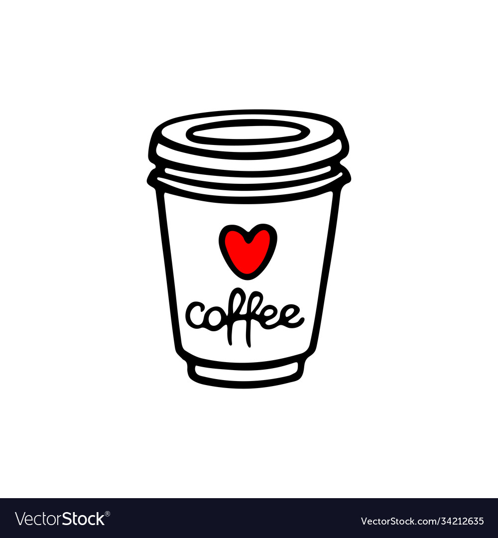 Take Away Coffee Cup Royalty Free Vector Image