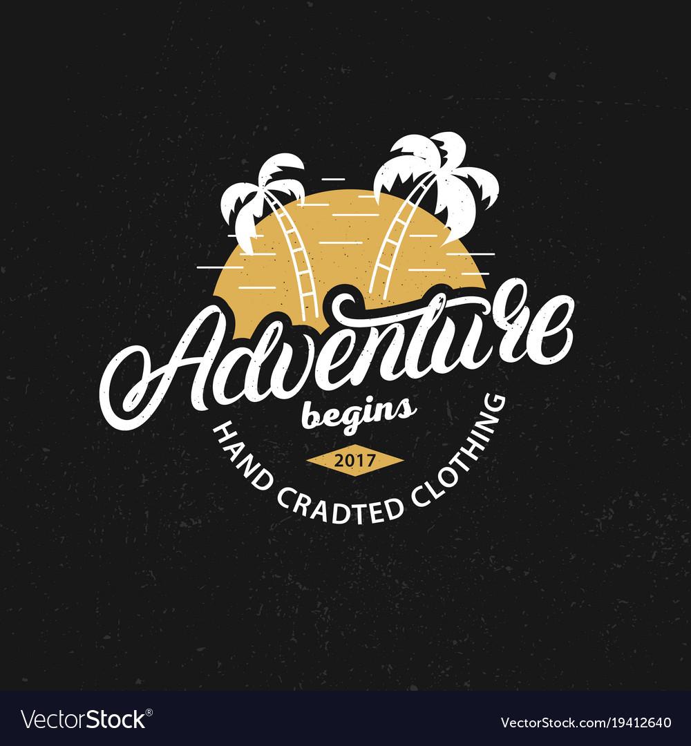 Adventure hand written lettering c