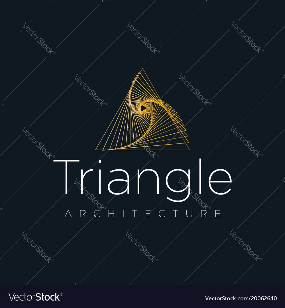 Architecture logo company triangle logo concept