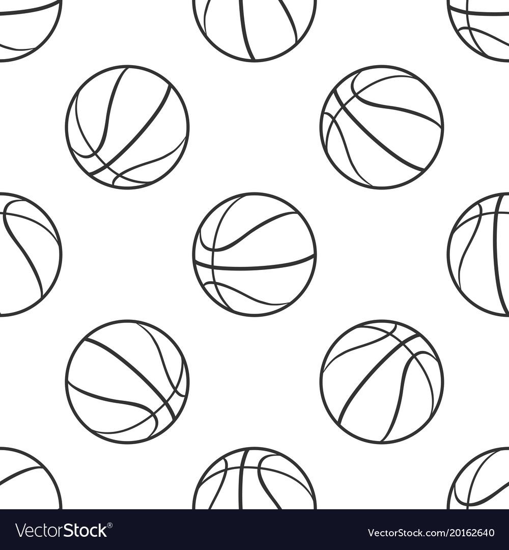 Basketball ball seamless pattern sport symbol