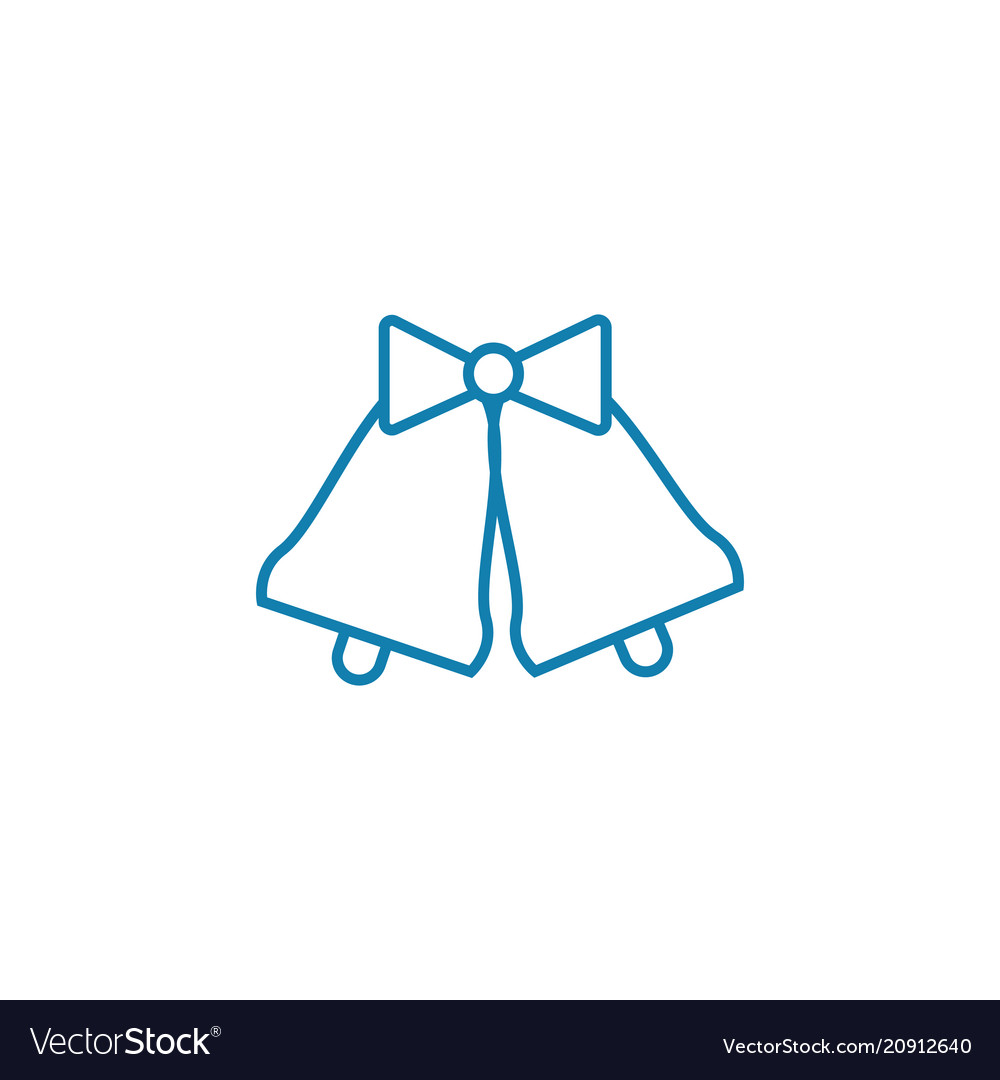 Christmas bells linear icon concept christmas