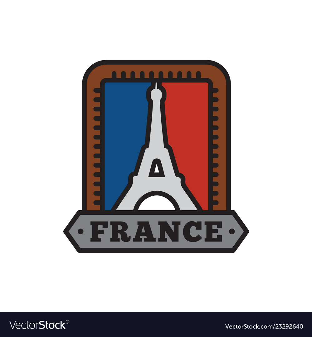 Country badge collections paris symbol of big