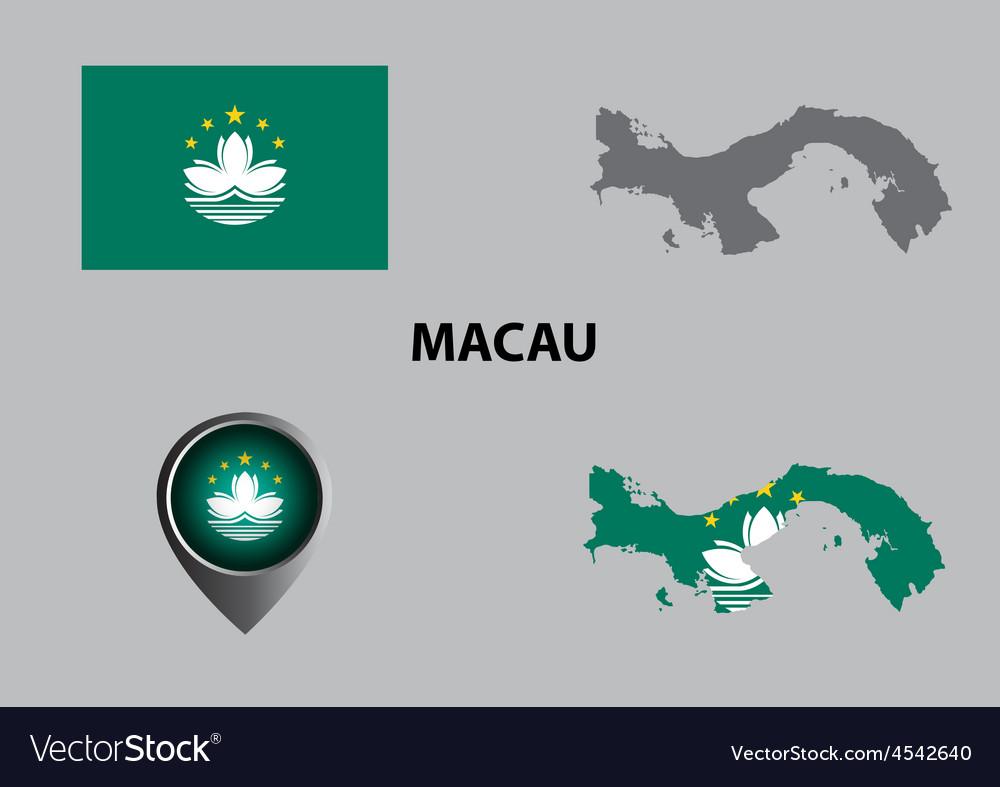 Map of Macau and symbol
