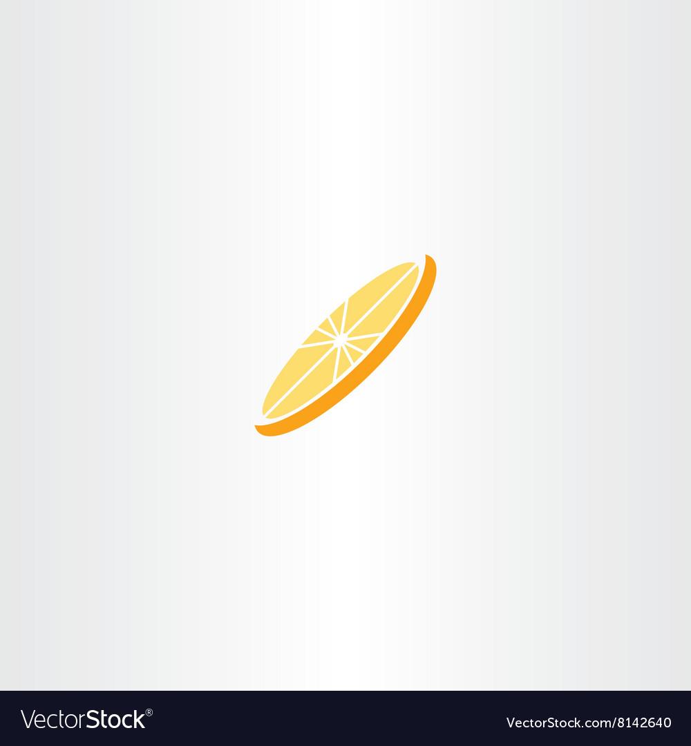 Orange Slice Clipart Icon Logo Royalty Free Vector Image