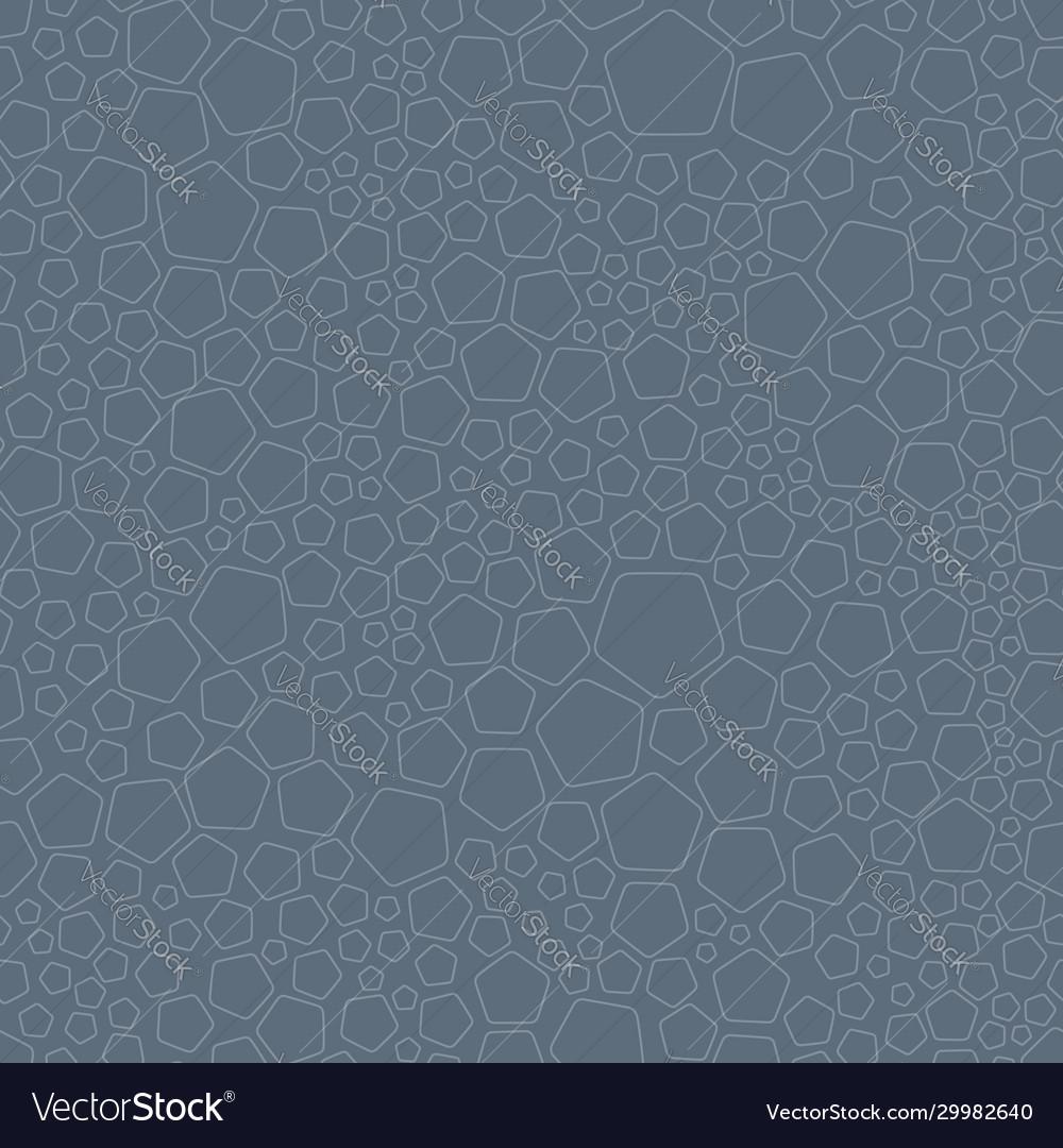 Random pentagons seamless pattern