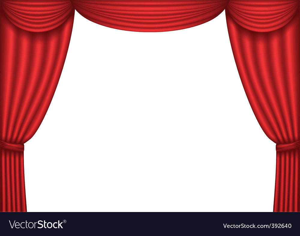 Red Curtain Royalty Free Vector Image Vectorstock
