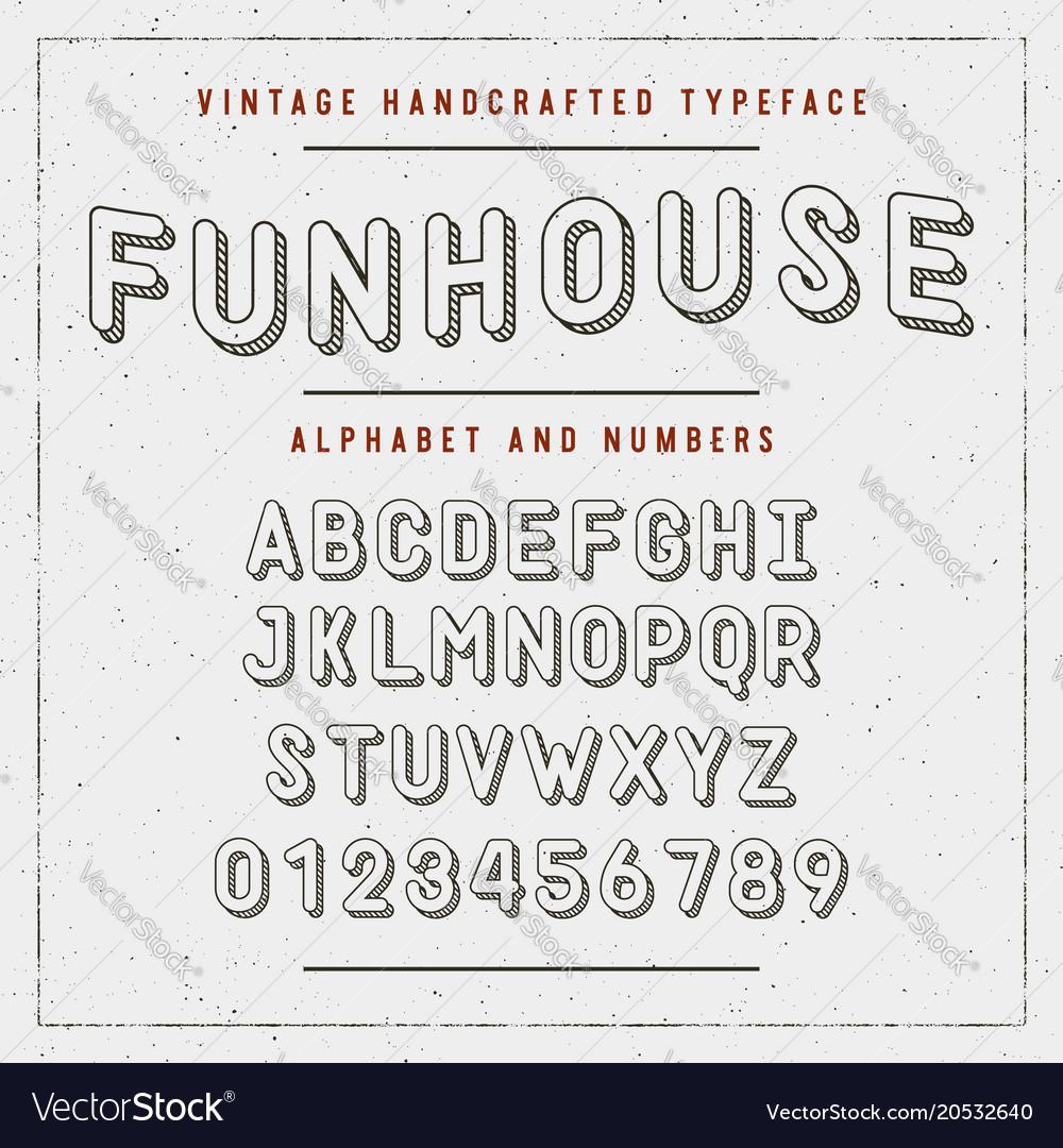 Vintage handcrafted font sans serif rounded