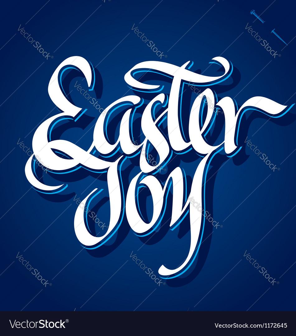 EASTER JOY hand lettering vector image
