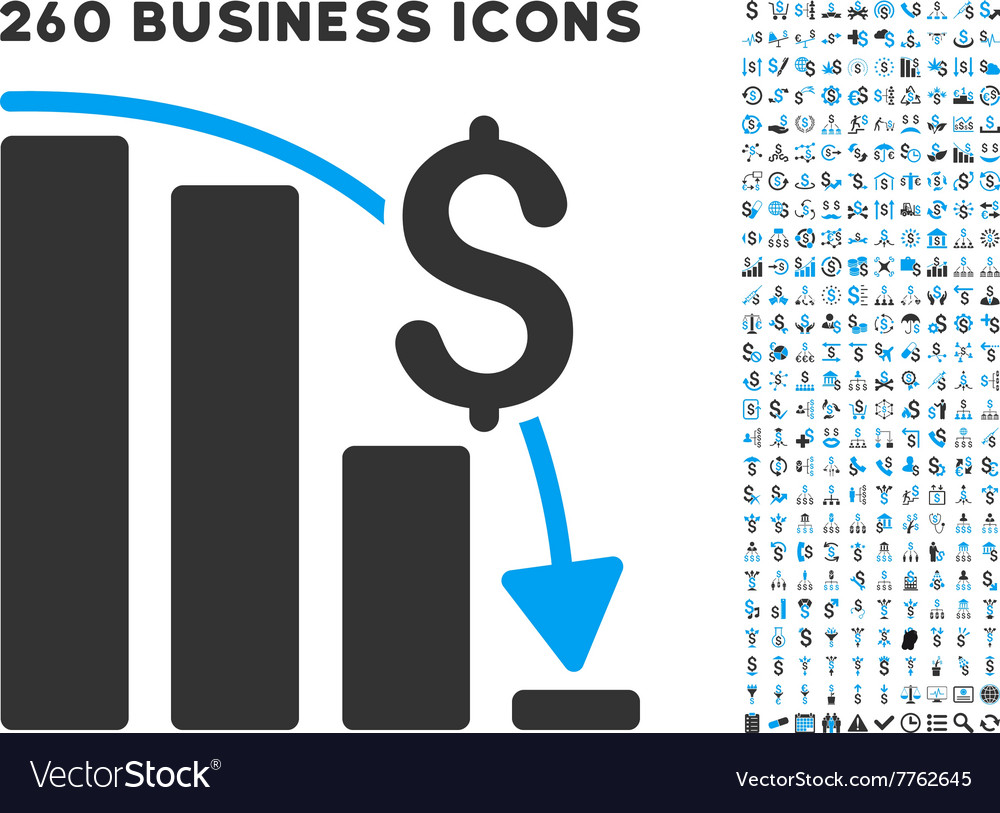 Financial Epic Fail Icon with Flat Set