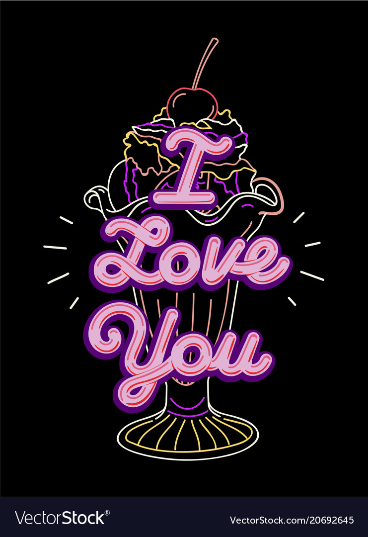 I love you t-shirt print and embroidery