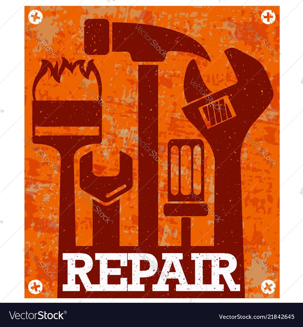 Repair and service banner
