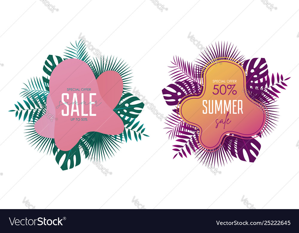 Summer sale banner template promotion banners