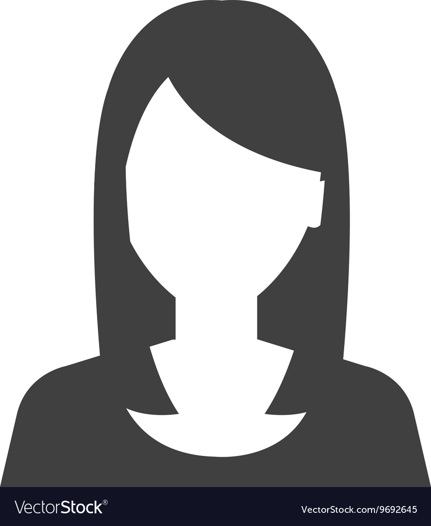 Young executive woman profile icon Royalty Free Vector Image