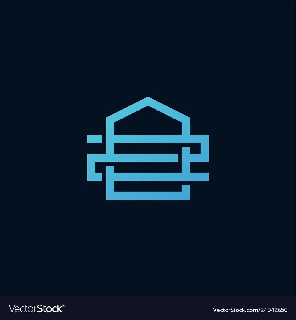 2 number z letter house home line outline logo