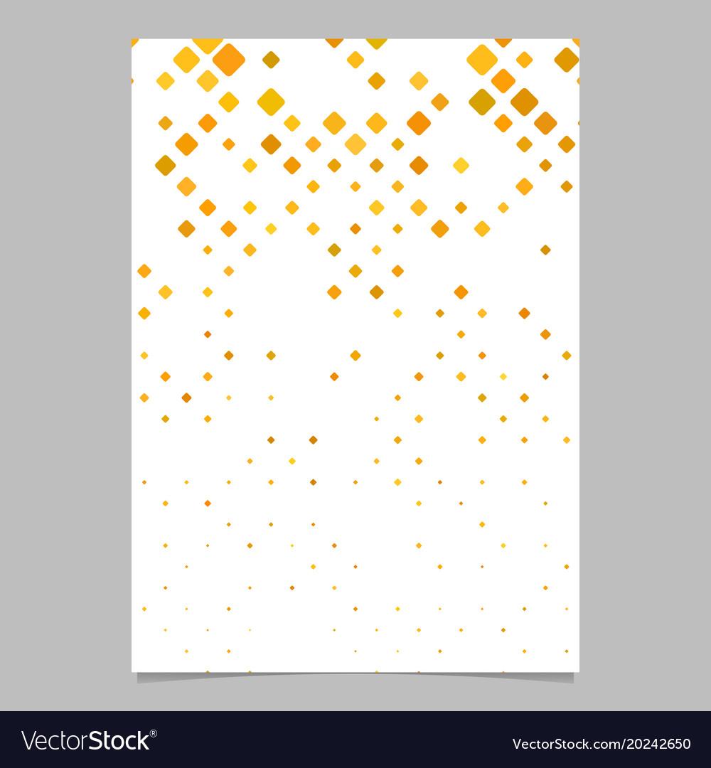 Geometric diagonal square pattern poster template vector image