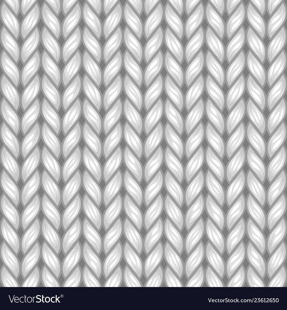 Gray knit texture seamless pattern