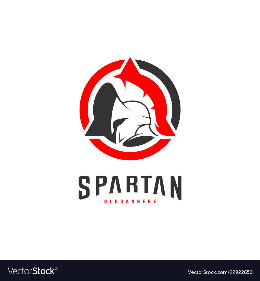 e7f4f192e0bb2 Spartan logo design spartan helmet logo template Vector Image