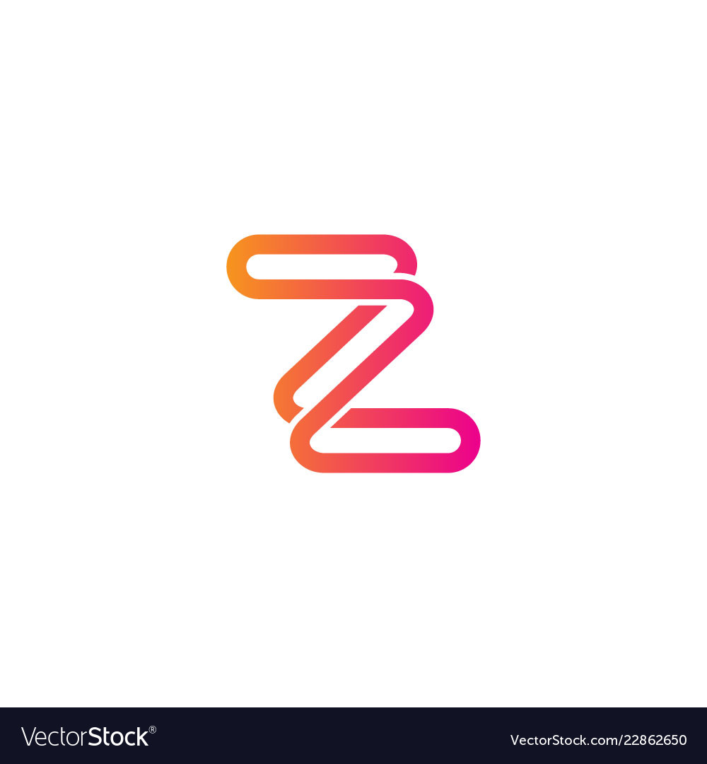 Z initial line abstract logo
